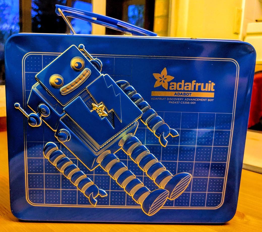 Adafruit Box 6. A lunchbox full of electronics.