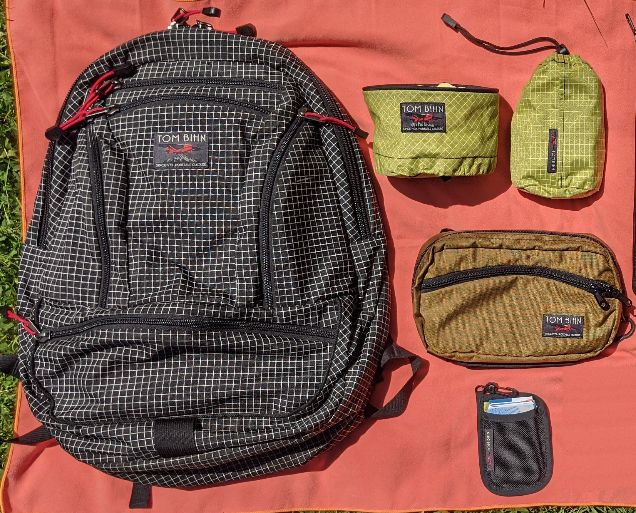 Photograph of Synapse 25, Travel Tray, Travel Stuff Sack, Handy Little Thing Pouch, Pocket Pouch